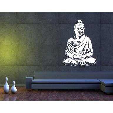 Wandtattoo Meditierender Buddha II