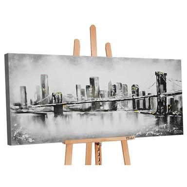 Acryl Gemälde handgemalt Grossstadt 120x60cm - Bild 1