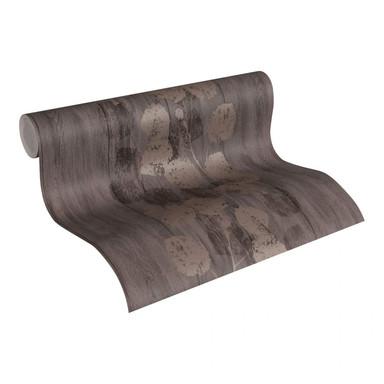 Livingwalls Tapete braun, metallic