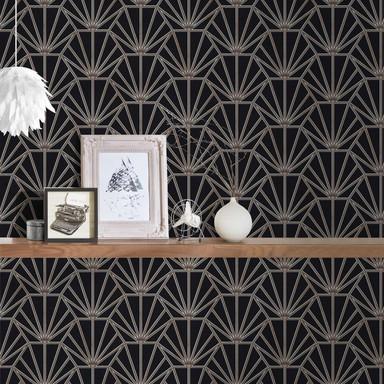 Daniel Hechter Vliestapete geometrische Tapete schwarz, bronze, weiss