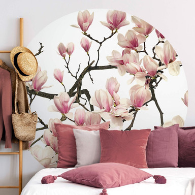 Fototapete Kadam - Flora Magnolia - Rund