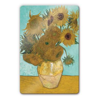 Glasbild van Gogh - Sonnenblumen