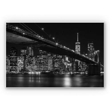 Hartschaumbild New York bei Nacht