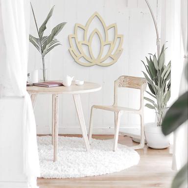 Holzdeko Pappel - Yoga Lotusblume