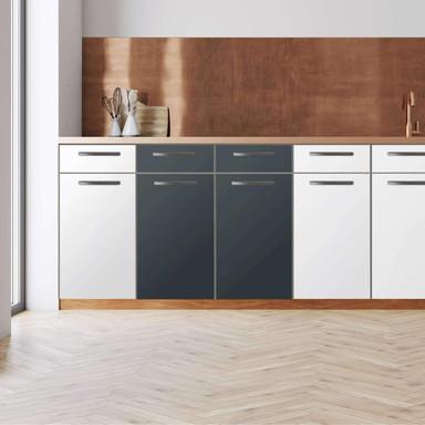 Küchenfolie - Unterschrank 80cm Breite - Blaugrau Dark