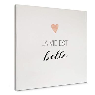 Leinwandbild Confetti & Cream - La vie est belle