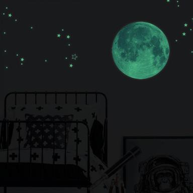 Leuchtsticker Mond Ø45cm