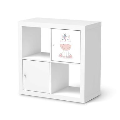 Möbelfolie IKEA Kallax Regal 1 Türe - Baby Unicorn