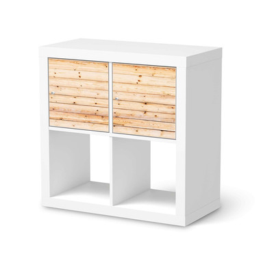 Möbelfolie IKEA Kallax Regal 2 Türen (quer) - Bright Planks