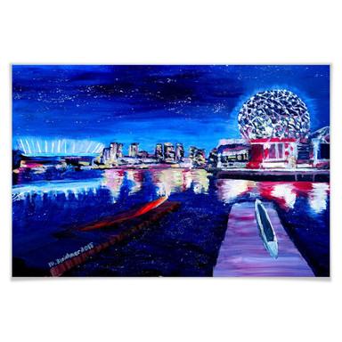 Poster Bleichner - Vancouver bei Nacht