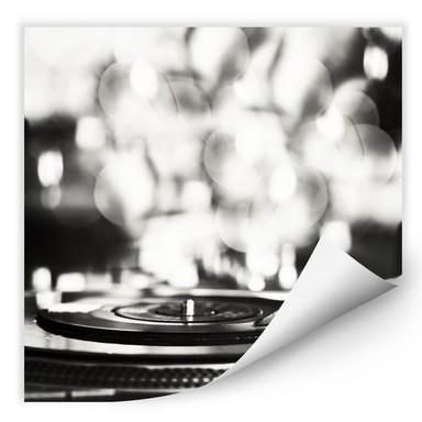 Wallprint Vinyl Record on Turntables