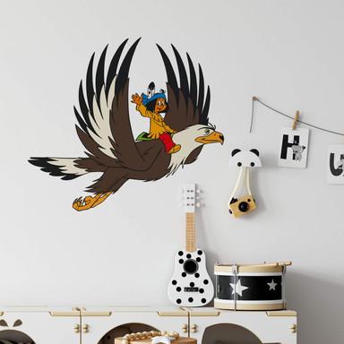 Wandsticker Yakari und Grosser Adler