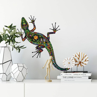Wandtattoo Farbenfroher Gecko