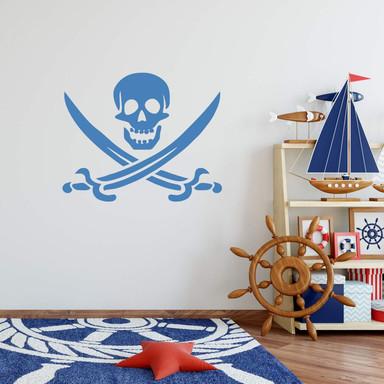 Wandtattoo Piratenzeichen