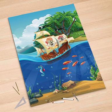Folienbogen (100x150cm) - Pirates