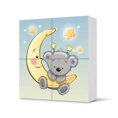 Klebefolie IKEA Besta Schrank 4 Türen - Teddy und Mond- Bild 1