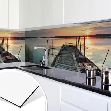 Küchenrückwand - Alu-Dibond - Sunset at the Lake