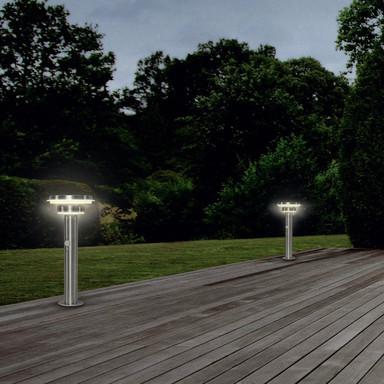 LED Solarwegeleuchte Endura in Silber 6W 400lm IP44