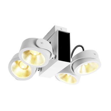 LED Wand- und Deckenaufbauleuchte Tec Kalu 24° in Weiss und Schwarz 4x15W 3800lm