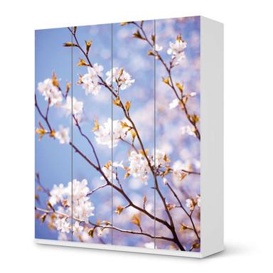 Möbelfolie IKEA Pax Schrank 236cm Höhe - 4 Türen - Apple Blossoms