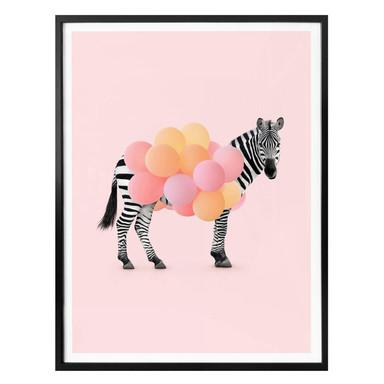 Poster Fuentes - Zebra Balloon