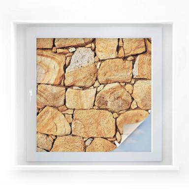 Sichtschutzfolie Mauer 03 - quadratisch