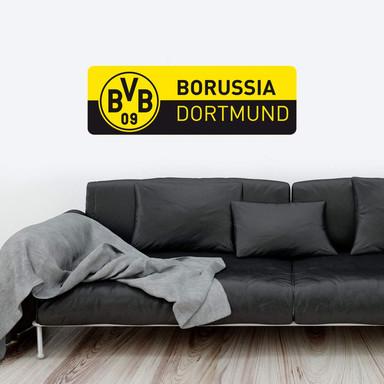 Wandsticker BVB Schriftzug Banner gelb/schwarz