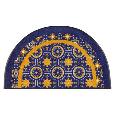 Wash&Dry Fussmatte Round Azulejo 50x85cm