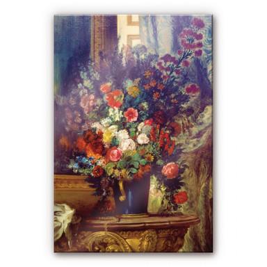 Acrylglasbild Delacroix - Vase mit Blumen auf einer Konsole
