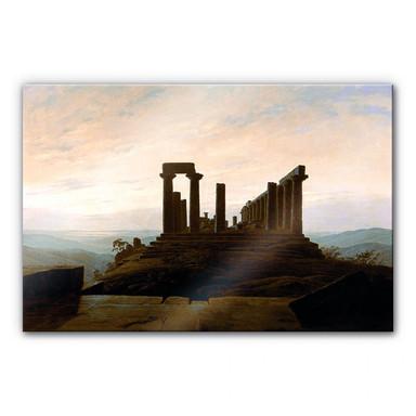Acrylglasbild Friedrich - Der Junotempel in Agrigent