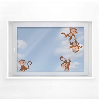 Fensterbild Äffchen