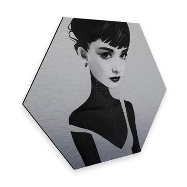 Hexagon - Alu-Dibond-Silbereffekt - Ireland - Oh Audrey