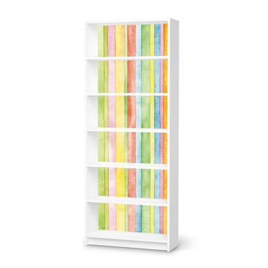 Klebefolie IKEA Billy Regal 6 Fächer - Watercolor Stripes- Bild 1