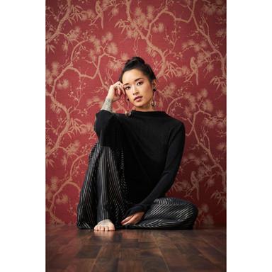 Livingwalls Vliestapete Metropolitan Stories asiatische Tapete mit Bonsai Mio Tokio metallic, rot