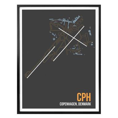 Poster 08Left - CPH Grundriss Kopenhagen