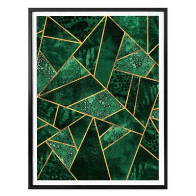 Poster Fredriksson - Dunkelgrüner Smaragd