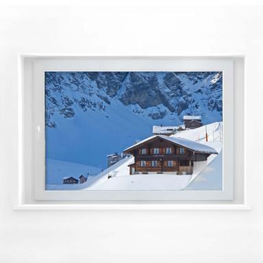 Sichtschutzfolie Ferienhütte in den Schweizer Alpen
