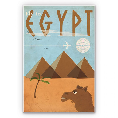Wandbild PAN AM - Fly to Egypt