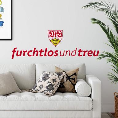 Wandsticker VfB Stuttgart furchtlos und treu
