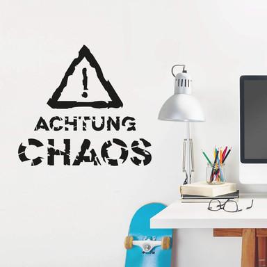 Wandtattoo Achtung Chaos