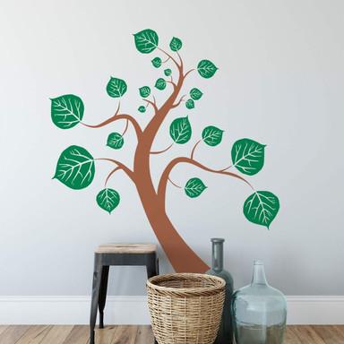 Wandtattoo Baum (2-farbig)