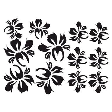 Wandtattoo Blüten-Set 17