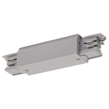 3-Phasen S-Track, Aufbauschiene, Längs-Verbinder, Einspeiser, silber-grau