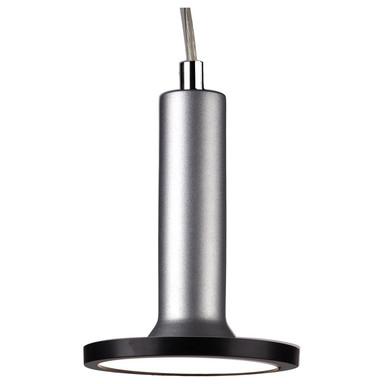 famlights | 1 Phasen LED Pendelleuchte Victor in Silber mit Leuchtmittel in Schwarz