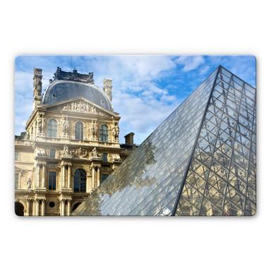 Glasbild Der Louvre