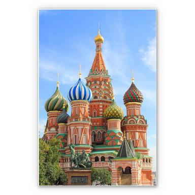 Hartschaumbild St. Basilius Kathedrale Moskau