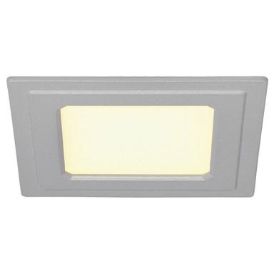 LED Einbauleuchte Senser in silbergrau, 6 W, 240 Lumen, L/B 120 mm, eckig