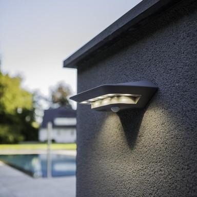 LED-Solar Wandleuchte GHOST