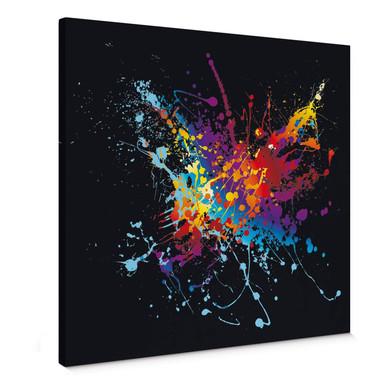Leinwandbild Farbenexplosion