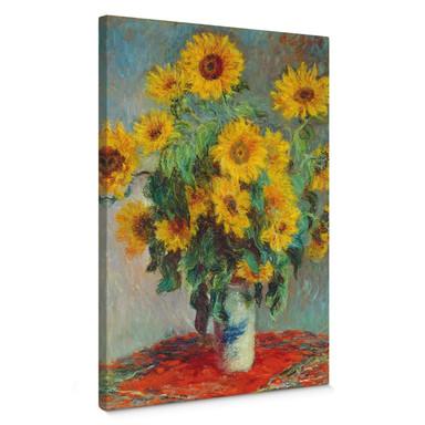 Leinwandbild Monet - Sonnenblumen